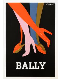 Original Vintage Bernard Villemot posters for Perrier, Bally