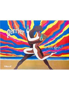 BALLY BY BERNARD VILLEMOT 1979 VINTAGE FRENCH FASHION POSTER