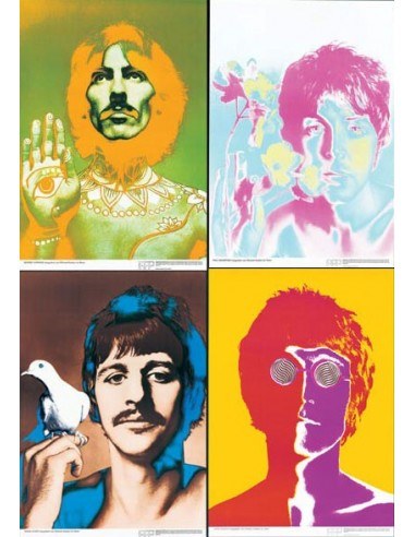 Beatles Posters By Richard Avedon 1967 Popart Poster Set Of 4