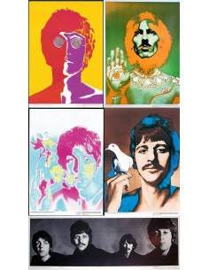 ORIGINAL POP ART POSTER OF JOHN LENNON BY AVEDON FOR STERN 1967//8 BEATLES